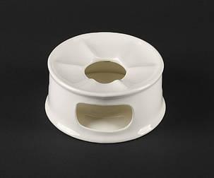 "Подставка фарфоровая для подогрева чайника 5""/130 мм Helios Extra white (A7059), фото 2"