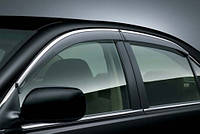 HIC Дефлектор окна Skoda Octavia A5 2004-2013 Sedan/HB С Хром Молдингом