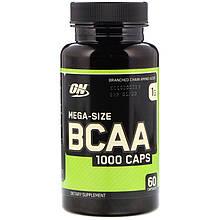 """Аминокислотный комплекс Optimum Nutrition """"Mega-Size BCAA 1000 Caps"""" цепь 2:1:1 (60 капсул)"""