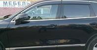 HIC Дефлектор окна Volkswagen Touareg 2010-> С Хром Молдингом