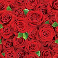 """Подарочная бумага для упаковки  """" Красные розы """", 5 шт/уп"""
