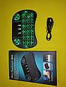 Беспроводная русская клавиатура с тачпадом UKC i8 (Green) 2.4G LED подсветка, фото 5