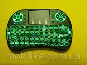 Бездротова російська клавіатура з тачпадом UKC i8 (Green) 2.4 G LED підсвічування
