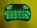 Беспроводная русская клавиатура с тачпадом UKC i8 (Green) 2.4G LED подсветка, фото 7