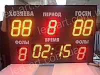 Светодиодное спортивное табло универсальное футбол, баскетбол LED-ART-Sport-1100х800-576