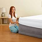 Надувна двоспальне ліжко Intex 64414 Comfort Plush 203х152х46см, фото 2
