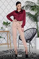 Женские брюки на высокой посадке с поясом 16SH332, фото 1