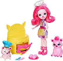 Кукла Enchantimals Энчантималс свинка поросенок Пети Пиг Веселая пекарня Baking Buddies Playset