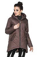 Куртка-парка женская демисезонная с капюшоном, фото 1