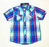 Стильная рубашка, шведка  для мальчика рост 134,152,164-170 cм
