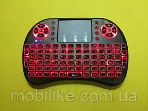 Бездротова міні-клавіатура з тачпадом UKC i8 (Red) 2.4 G LED підсвічування