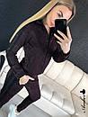 Женский спортивный костюм камуфляж на молнии с черными лампасами 8so594, фото 6