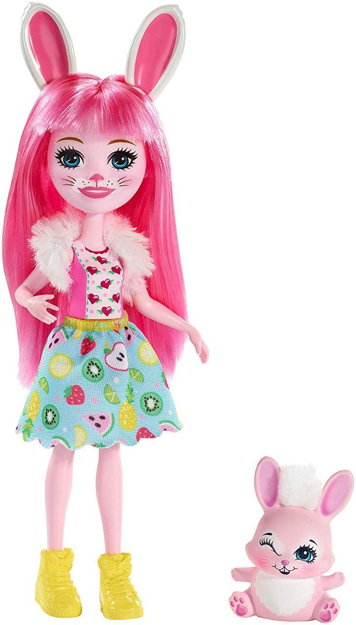 Кукла Enchantimals Энчантималс Кроля и кролик Твист 2019г. Bunny Doll