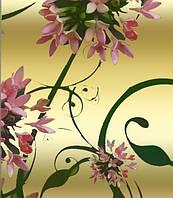 """Подарочная бумага с пантоном для упаковки  """" Цветы на золотом фоне """", 5 шт/уп"""