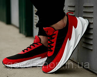 Мужские кроссовки Adidas Sharks Red White (люкс копия)