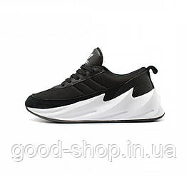 Мужские кроссовки Adidas Sharks Black White (люкс копия)