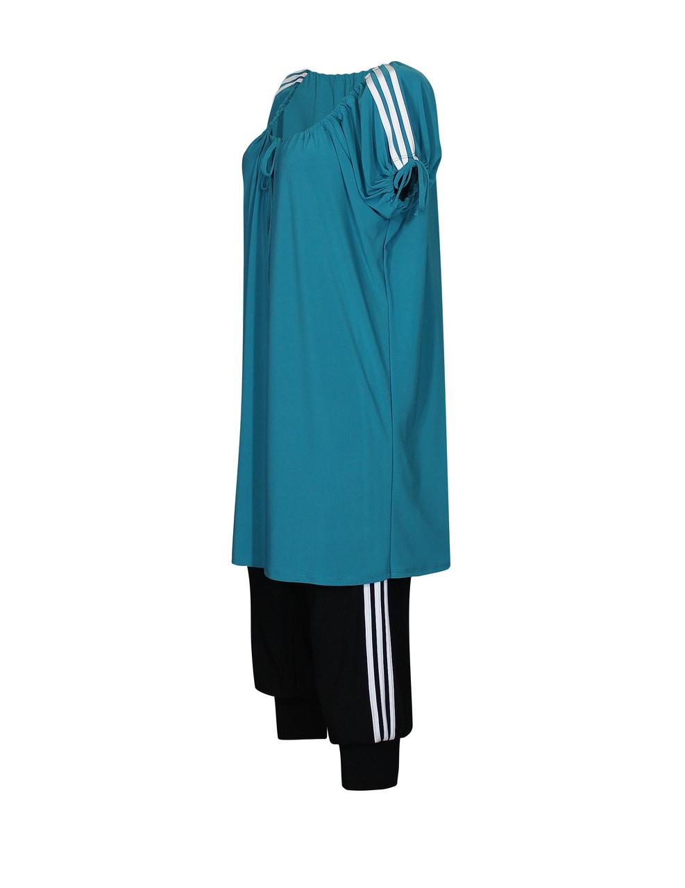 Летний спортивный костюм больших размеров Полоски