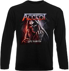 Футболка с длинным рукавом Accept - Life Is A Bitch (чёрная)