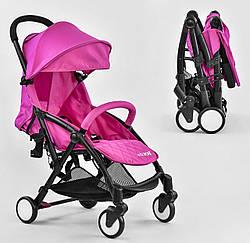 Прогулочная коляска JOY Розовая W 4420 , футкавер и съёмный бампер