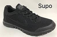 Кроссовки мужские повседневные черные весна-лето-осень  текстиль дышащие легкие 41,43 размеров