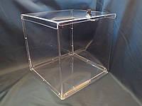 Коробка акриловая с замком 400*400*400 мм, фото 1