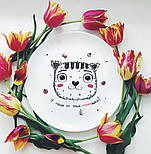 "Дизайнерская тарелка ""Котик У меня от тебя мурашки"", фото 8"