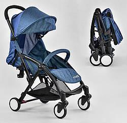 Прогулочная коляска JOY Синяя W 5530 , футкавер и съёмный бампер