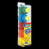 Пальчиковые краски-пазлы , со штампом,  5 цветов легко смываются с рук Finger paints