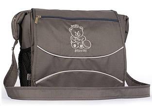 Эргономическая сумка для детской коляски Baby Breeze 0350 водонепроницаемая графит