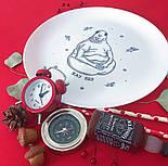 """Дизайнерская тарелка """"Ждун"""" оригинальный подарок, фото 3"""