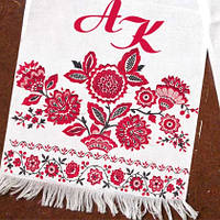 Дизайнерский свадебный рушник с Вашими инициалами, фото 1