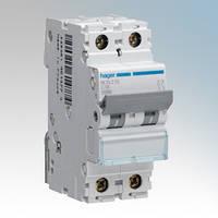 Hager Автоматический выключатель In=10 А, 2п, С, 10 kA, 2м NCN210
