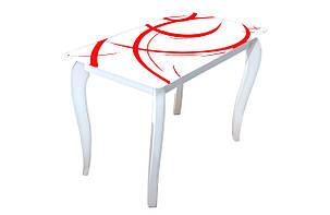 Скляний стіл Імператор Веселка, фото 2