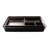 Упаковка для суши ПС-610 (с крышкой) 180 шт, фото 1