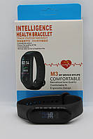 Умный Фитнес браслет Smart Watch Mi Band M3, цветной дисплей, пульс, давление,шагомер,смс, сон