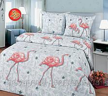 Ткань для постельного белья, бязь хлопок Фламинго