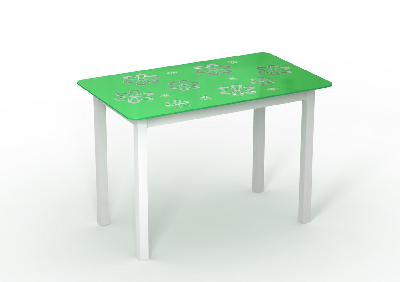 Стол стеклянный салатовый Монарх Букет