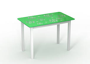 Стол стеклянный салатовый Монарх Букет, фото 2
