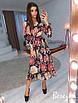 Летнее платье-рубашка в принт с разрезами на плечаах 66ty2484, фото 2