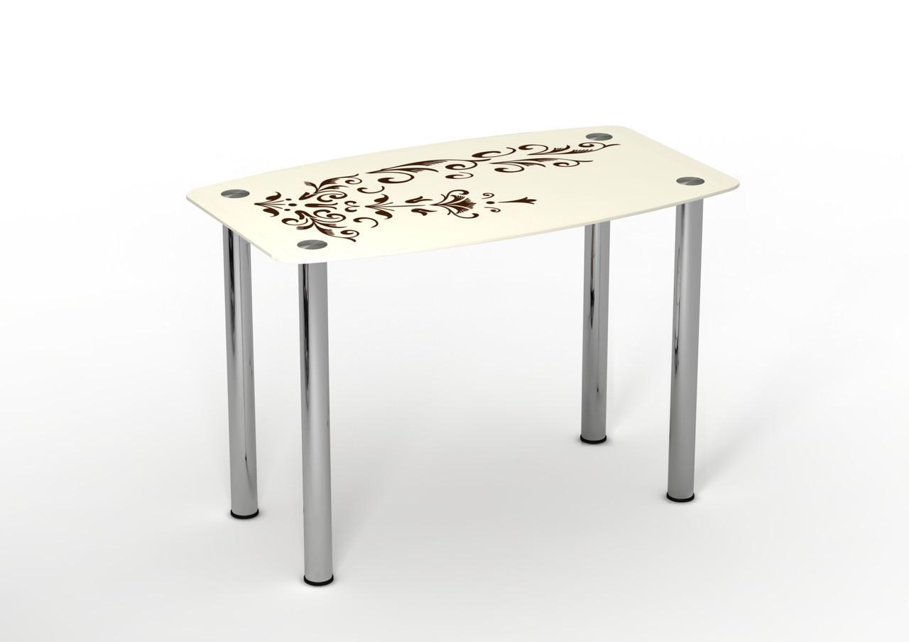 Стол стеклянный Ванильный зефир