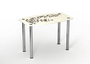 Стол стеклянный Ванильный зефир, фото 2