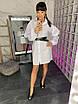 Коттоновое белое платье - рубашка с поясом 34ty2497, фото 3