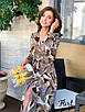 Платье из шелка в летний принт с верхом на запах 36ty2501, фото 2