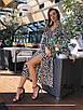Платье из шелка в летний принт с верхом на запах 36ty2501, фото 3