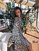 Платье из шелка в летний принт с верхом на запах 36ty2501, фото 4
