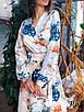 Шелковое платье миди в растительный принт 36ty2502, фото 3
