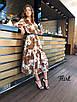 Шифоновое принтованное платье ниже колена 36ty2503, фото 4