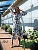 Шифоновое принтованное платье ниже колена 36ty2503, фото 6