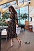 Шифоновое принтованное платье ниже колена 36ty2503, фото 7