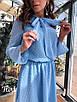 Шифоновое платье в горошек с бантом 36ty2505, фото 3